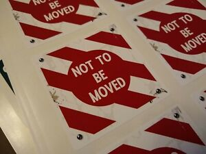 British Railways 'Not to be Moved' sticker