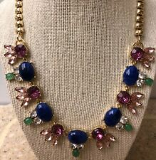 "Talbots Multi Gem Runway Necklace 20"" Gold Tone - Inc Shipping"