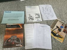 Reebok treadmill  Zr7 user Manuals instructions paperwork 97 page console guide
