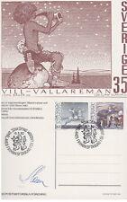 SWEDEN 1982 SLANIA SIGNED PHQ CARD AUTOGRAPH