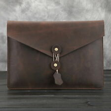 New Men's Genuine Leather Business Handbag A4 paper Pouch Document Case