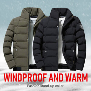 Men's Winter Jacket Thick Warm Coat Cotton Padding Puffer Jacket For Man