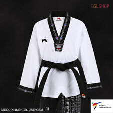Mudoin Korean Hangul Design Taekwondo Uniform Wt Poom Tkd Martial Arts Itf Gi