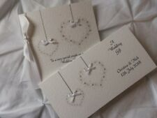 Handmade Personalised Wedding Day Card And Matching Money Gift Wallet