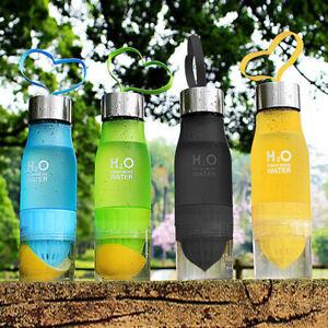 Portable Manual Juicer Blender 650ml Fruit Smoothie Maker Shaker Water Bottle UK