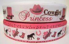 GROSGRAIN COWGIRL PRINCESS RIBBON LOT FOR HAIR BOWS 4 YARDS