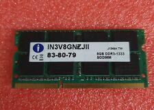 Integral PC3 10600 8GB 1X8GB IN3V8GNZJII 1333MHZ 1.5V Ram memory laptop