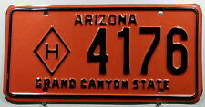 """USA Nummernschild aus Arizona """"GRAND CANYON STATE"""" mit """"H"""" = Hörgeschädigt. 9656"""