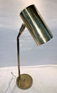 A vintage mid century Koch & Lowy Articulating Brass Cylinder Desk Table Lamp