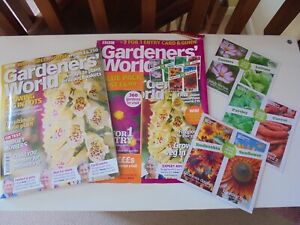 BBC Gardeners World Magazine May 2021 Unread : Incl 6x Seeds Packet but no 2for1