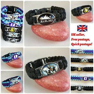 Fortnite Battle Royale Weave Bracelet Gift Wristbands Save World Party UK SELLER