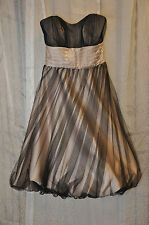 Prom Pageant Homecoming Alfred Angelo Tulle/Satin Sz4 Twister(Champagne & Brown)