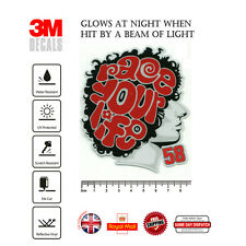 Marco Simoncelli 58 race your life Laminated 3M Reflective Decals Sticker F304