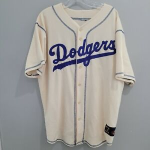 VTG Majestic Cooperstown Brooklyn Dodgers Jackie Robinson 42 Throwback Jersey L