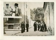 Juin 1937, agression à Aix Vintage silver print,350.000 francs dérobés aux emp