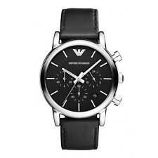 Emporio Armani Classic Watch Black Leather Analog Quartz Men's Watch AR1733