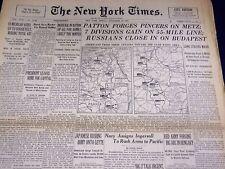 1944 NOVEMBER 10 NEW YORK TIMES - PATTON PINCERS ON METZ - NT 3332