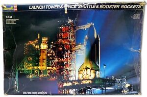 Launch Tower, Space Shuttle & Booster Rockets Plastic Model Kit | Revell | USED