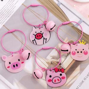 Cute Cartoon Pink Pig Keyring Pendant Dangle Key Chain Bag Accessory