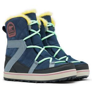 Ladies Sorel Glacy Explorer Shortie Waterproof Cozy Faux Fur Mid Winter Boots
