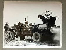ww2 photo press US Army , Marine rocket truck ,  Iwo Jima  1945   A102