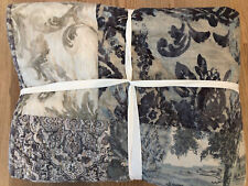 Pottery Barn Kali Handcrafted Patchwork Cotton Quilt Full Queen Gray Multi