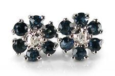 Ohrstecker Saphir Diamanten Wesselton/p1 585 Weißgold [BRORS 15822]