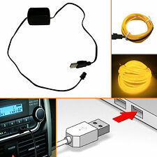 1X EL Wire USB Inverter Car Charger Driver for 7M Strip Light Cable Connector