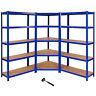 Estándar de 5 niveles estante grandes Rack de almacenamiento de Bricolaje Garaje
