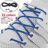 Elastic Silicone No Tie 'Lazy' Shoe Laces Shoelaces Trainers Shoes Adult&Kids-