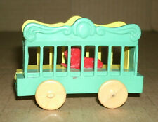 1/64 Scale Circus Wagon with Lion Plastic Toy - Vintage 1960's Basic Model