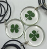 Unisex Lucky 4 Leaf Clover Pendant Necklace - UK Stock - FREE P&P