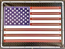 AMERICAN USA FLAG NEON EFFECT PRINTED BANNER SHOP GARAGE MAN CAVE SIGN ART 4 X 3