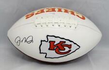 Joe Montana Autographed Kansas City Chiefs Logo Football- JSA Witnessed Auth