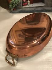 ANTIQUE WILLIAMS SONOMA PARIS STAMPED FRENCH COPPER ROASTING POT PAN