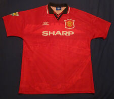 Manchester United Home Camisa 1994-96 (Campeones 1993-94 insignias) - L