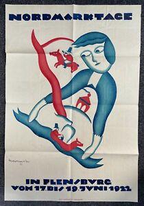 SELTEN Herbert Marxen Plakat Nordmarktage Flensburg 1922 .