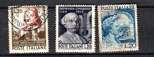 Repubblica Italiana - 1949/51 usati - 5 valori annulli originali.