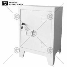 Montgomery Shelves Organizer Storage (White) Metal Locker Side Sofa/Home &Office