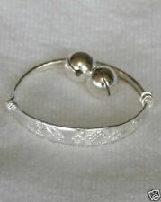 Gorgeous 925 Sterling Silver Adjustable Baby Childrens Bell Bracelet- AUS SELLER
