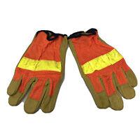 MCR Memphis Leather Work Gloves 12 Pair Dozen Safety Orange Leather Medium NEW!!