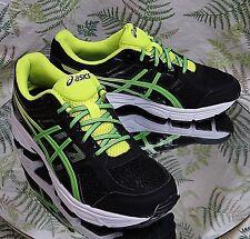 ASICS GEL CONTEND 4 BLACK GREEN SNEAKERS WALKING RUNNING SHOES MENS SZ 6 Eu 39