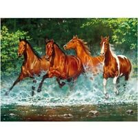 DIY 5D Full Drill Diamond-Painting Horse Kits Art Embroidery Home Decor Gift