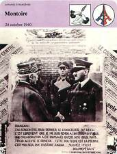 FICHE CARD l'Entrevue de Montoise Poignée de Main Maréchal Pétain  France 90s
