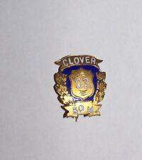 1903 ANTIQUE CLOVER SCHOOL COLLEGE TRACK FIELD 50M MEDALA BADGE CYCLING BICYCLE