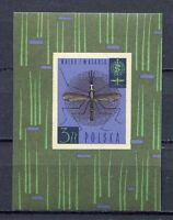36076) Poland 1962 MNH Who Drive To Eradicate Malaria S/S
