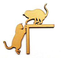 Cat door frame Wooden MDF craft design, Cat gifts, Cat gift ideas, Cat lover