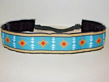 Aztec Turquoise Non slip Headband adjustable no slip Sweaty Sports Hair Bands