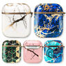 AirPods Case + Keychain Clip Protective Marble Cover For Apple Airpods 1/2 & Pro
