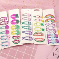 6x Sweet Hair Clips Snaps Hairpin Girls Baby Kids Hair Accessories Gift .z Nice